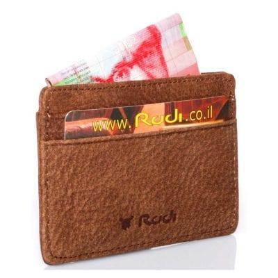 Rudi – ארנק קטן לכרטיסי אשראי מעור Full Grain | דגם 1480 מתנה קטנה