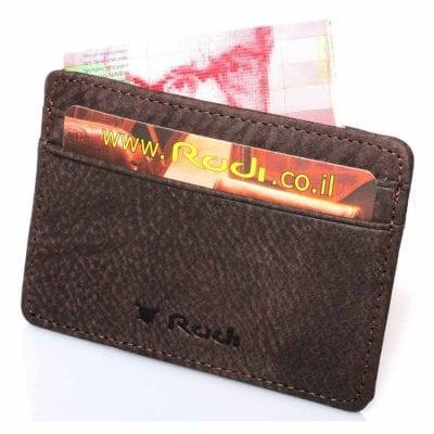 ארנק דק לכרטיסי אשראי מעור Full Grain | דגם 1483 מתנה קטנה