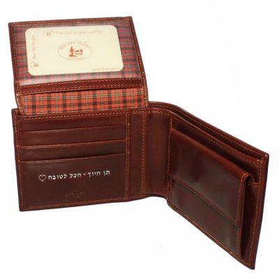 מתנה יוקרתית – ארנק איטלקי גדול עור ברידג' מקורי דגם לנון