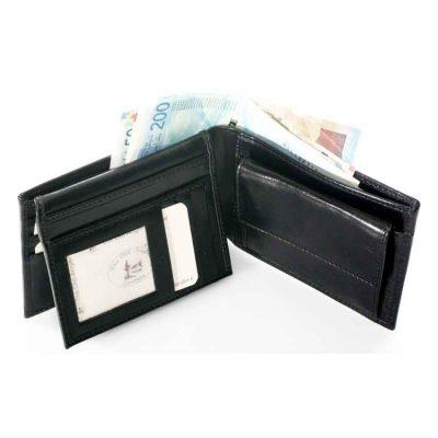 ארנק מהודר לגבר | ארנק גדול לכיס תוצרת איטליה עור ברידג' מקורי Bridge דגם 8011