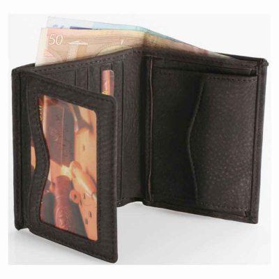 מתנה לחיילים – ארנק גבר קטן לכרטיסי אשראי שטרות ומטבעות מעור אפריקה אמיתי איטלקי ואיכותי – 90521 רודי – Rudi  – בארנק זה ניתן להטביע עד 4 מילים