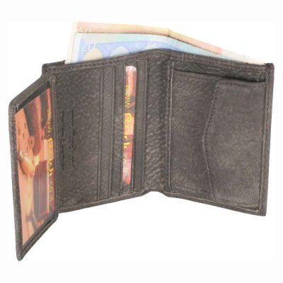 מתנה לחיילים – ארנק גבר קטן לכרטיסי אשראי שטרות ומטבעות מעור אפריקה אמיתי איטלקי ואיכותי – 90523 רודי – Rudi  – בארנק זה ניתן להטביע עד 4 מילים