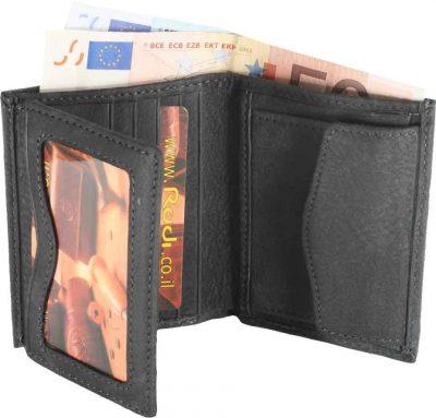 מתנה לחייל – ארנק גבר קטן לכרטיסי אשראי שטרות ומטבעות מעור אפריקה אמיתי איטלקי ואיכותי – 90524 רודי – Rudi  – ניתן להטביע עד 4 מילים בלבד ושורה אחת