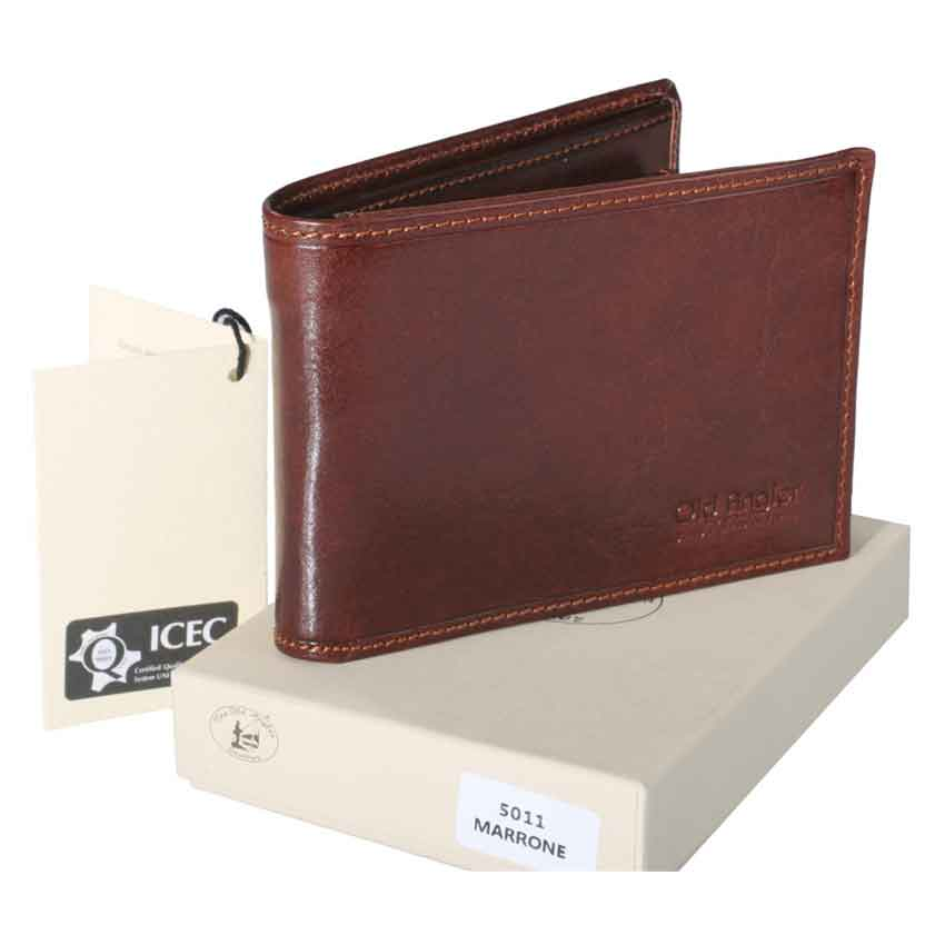 Man Leather Wallet (100% Made in Italy) item no' 8011