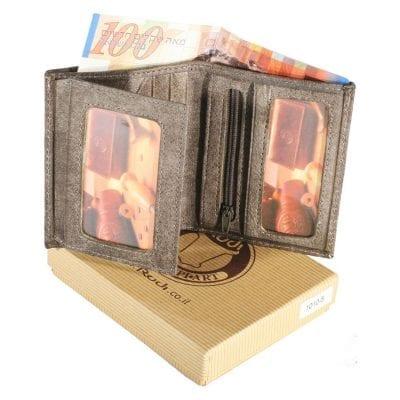 מתנות קטנות – ארנק קטן לגבר מעור אפריקה איטלקי – 10105 רודי – Rudi הטבעה עד 4 מילים