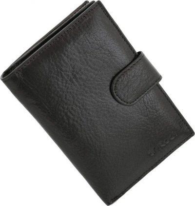 מתנה לחיילת – ארנק קטן מעור איטלקי דגם 16540 – צבע שחור