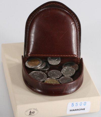 ארנק עור למטבעות – כסף קטן רטרו תוצרת איטליה ארנק פרסה 5500