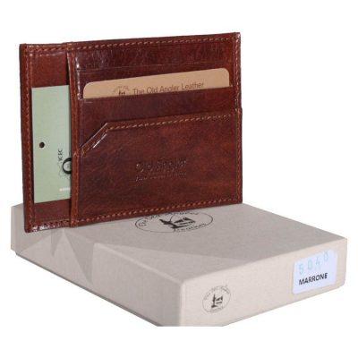 מתנה אישית – ארנק עור דק למסמכים, תעודת זהות, כרטיסי אשראי ורישיונות תוצרת איטליה 8040