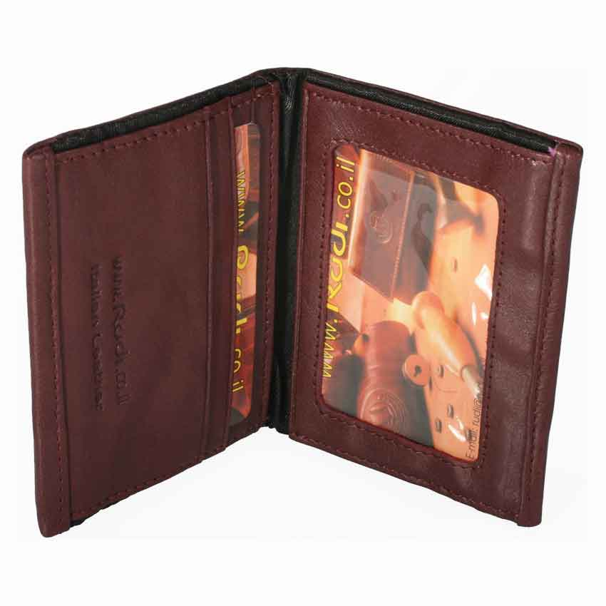 Thin small soft men's Italian 100% genuine leather wallet item no' 8361