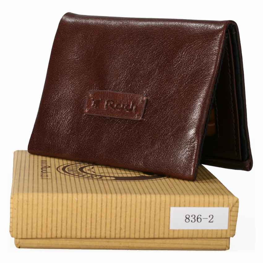 Thin small soft men's Italian 100% genuine leather wallet item no' 8362