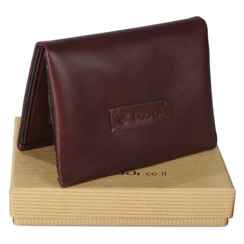 Thin small soft men's Italian 100% genuine leather wallet item no' 8363