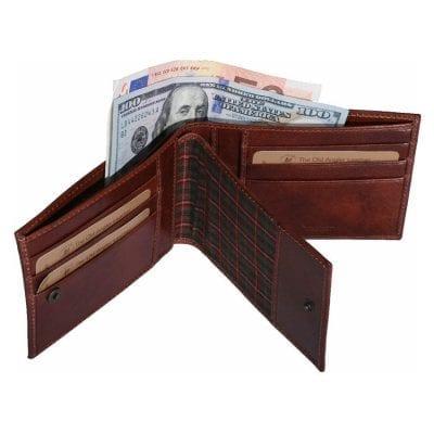 ארנקי גברים מהעור הטוב בעולם, תא לשקים תעודות ורישיונות, תוצרת איטליה Full Grain Leather דגם 8022