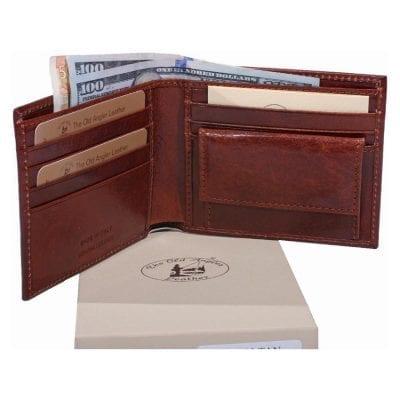 """מתנה לעורך דין ארנק לגבר מהעור הטוב בעולם,הכי איכותי, תוצרת איטליה Full Grain Leather דגם 8023 מתנה לעו""""ד"""