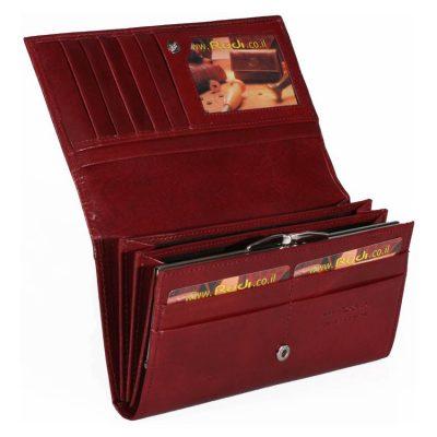 ארנק עור לנשים בסגנון רטרו מעור ברידג' איטלקי – דגם 11648