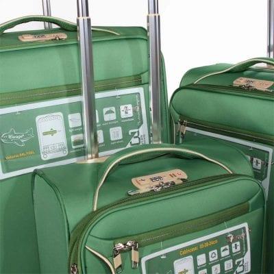 """מזוודות קלות סט 3 מזוודות 19"""" + 24"""" + 28""""  דגם 13005 Aurora Verage – המזוודות הטובות בעולם – אחריות 36 חודשים"""