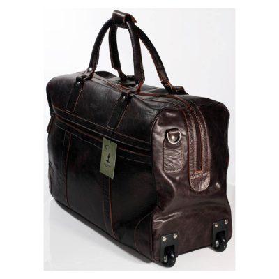 תיק נסיעות מעור בפאלו משובח טרול כולל רצועת נשיאה גודל תיקני לעליה למטוס תוצרת איטליה – דגם 015