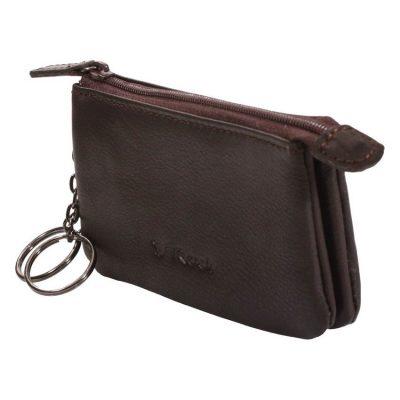 מחזיק מפתחות מעור נאפה מתאים גם לכסף קטן וכרטיסי אשראי מטבעות – דגם 1532-5