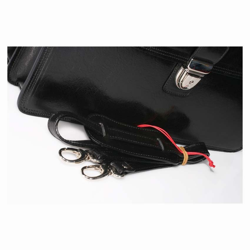 Leather Briefcase – item no' 2003 100% made in Italy