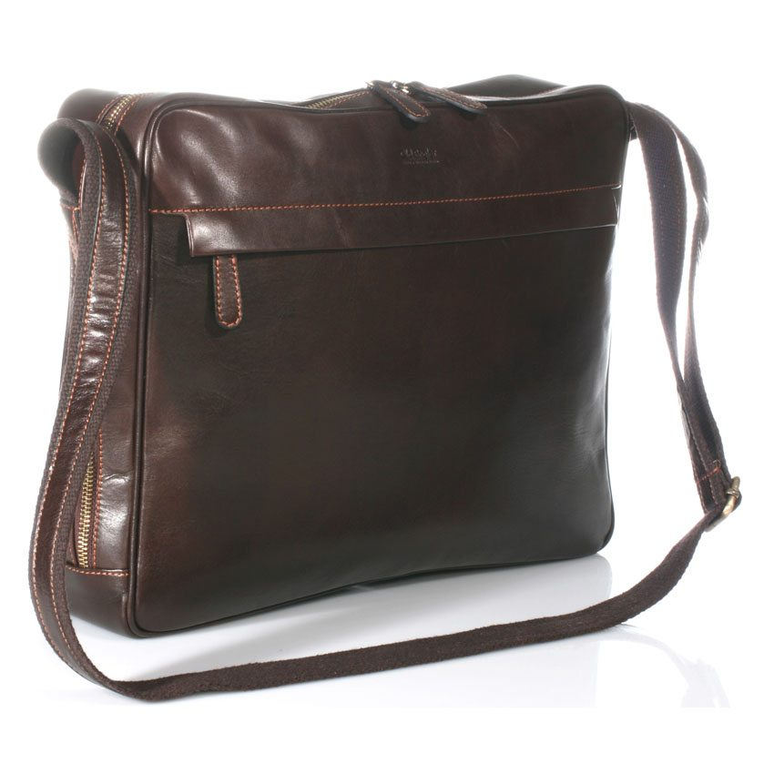 Leather sidebage made in Italy, the best quality and lightweight – Model 4091