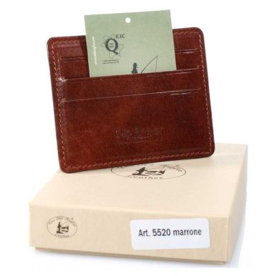 מתנות מיוחדות – ארנק קטן לכרטיסי אשראי תוצרת איטליה מעור אמיתי מהמשובחים בעולם – דגם 5520