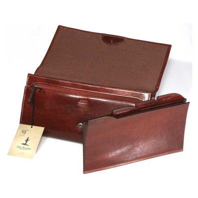 תיק קלאץ' מעור ברידג', במקור תיק מסמכים לנסיעות איכותי תוצרת איטליה דגם 5538