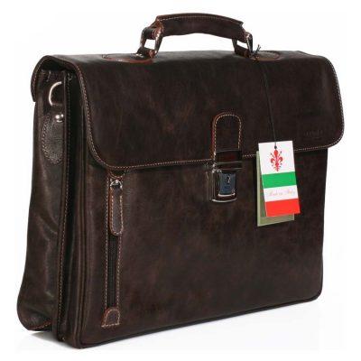 תיק מנהלים עם תא ללפטופ לאנשי עסקים עור אמיתי מובחר תוצרת איטליה – 758