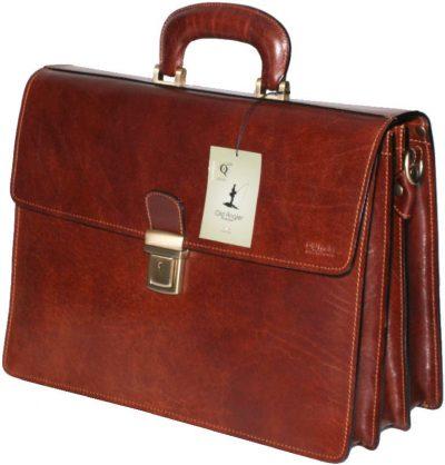 תיק עסקים לגברים, עור ברידג' אמיתי הכי מובחר שיש, הטוב בעולם Old Angler Italy דגם 779