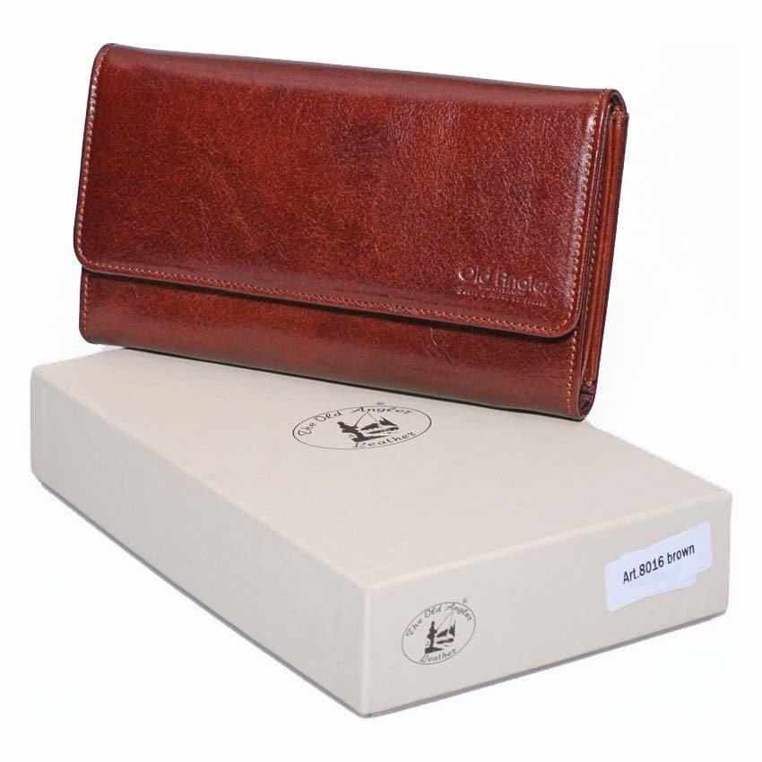 ארנק עור לנשים יפהפה תוצרת איטליה מעור אמיתי המשובח בעולם, עור בריד'ג דגם 8016