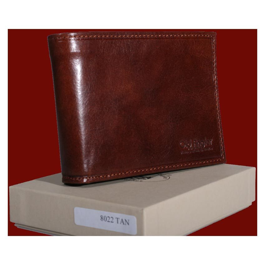Cowhide leather three part wallet  item 8022