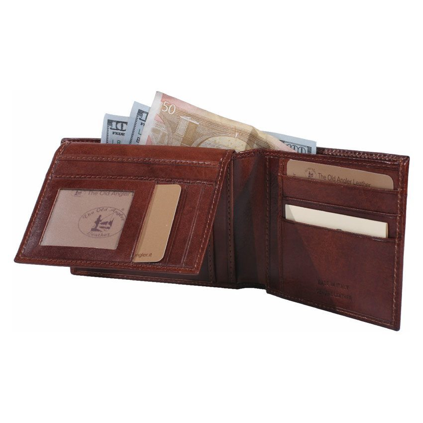 Cowhide leather bifold wallet item 8028