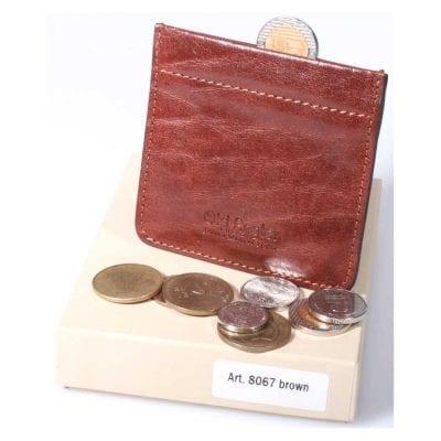 ארנק לכסף קטן מטבעות עם קפיץ אלסטי תוצרת איטליה מעור אמיתי מהמשובחים בעולם דגם 8067
