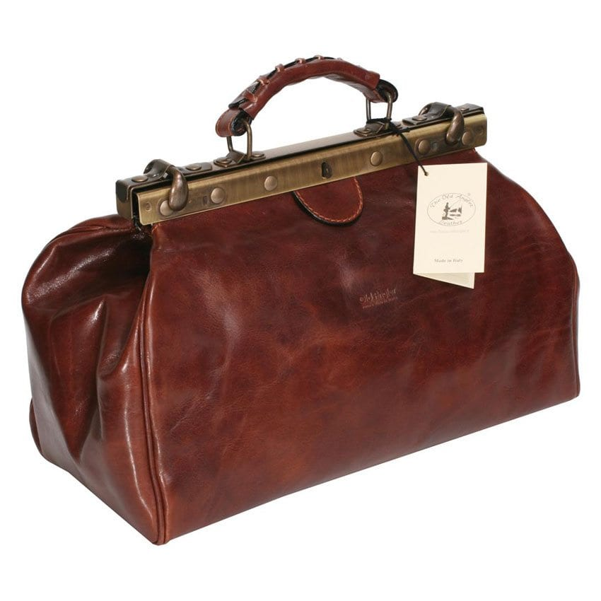 Made in Italy, Retro Doctor leather bag – Model 848