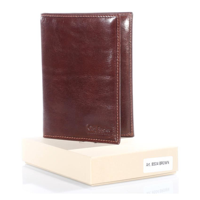 Passport case – leather passport + credit card compartments, Made in Italy from fine genuine leather – Model 8504