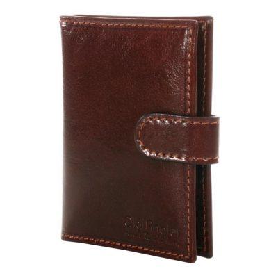 מתנה מקורית לגבר ליום הולדת – ארנקי גבר קטן עם כפתור תוצרת איטליה Full Grain Leather דגם 8510