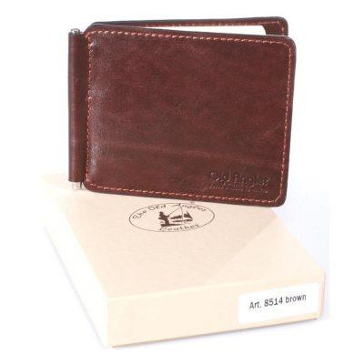 מני קליפ מעור | Leather Money Clip, מחזיק שטרות | תוצרת איטליה | דגם 8514