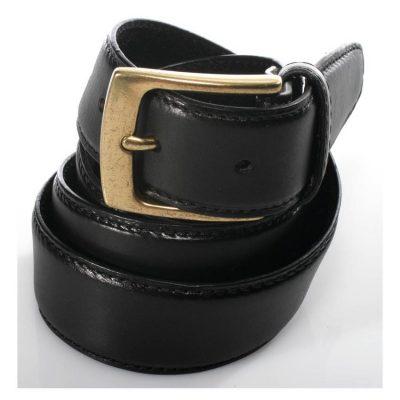 חגורה לגבר מעור אמיתי צבע שחור 2 שכבות עור איכותי למניעת עיוותים – Full Grain – Rudi דגם 100