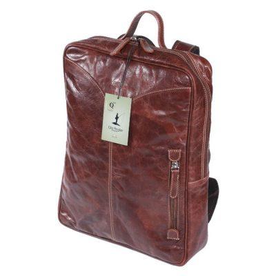 תיקים לגב מעור בופאלו תוצרת איטליה מהמם כולל תא ללפטופ, קל משקל במיוחד -דגם 4053