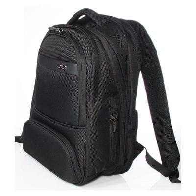 תיק גב אורתופדי כולל תא מרופד ללפטופ, כולל חבק למזוודה מיועד לאנשי עסקים VERAGE דגם 13020-13