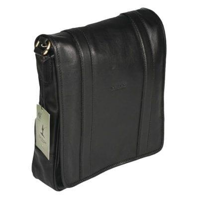 תיק עור לצד בצבע שחור תוצרת איטליה מעור רך איכותי כולל תא מרופד לאייפד 10 אינץ' דגם 310