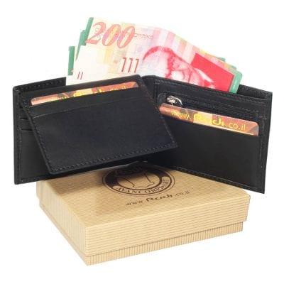 מתנות פרידה – ארנק לגבר בגודל בינוני מעור איטלקי | דגם 60417 מתנה אישית לגבר