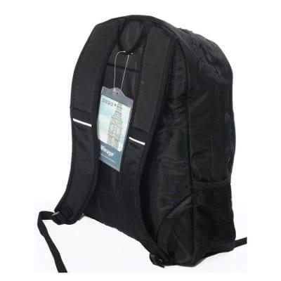 תיקי גב שחורים | תיק גב שחור מבד פוליאסטר VERAGE דגם 621615
