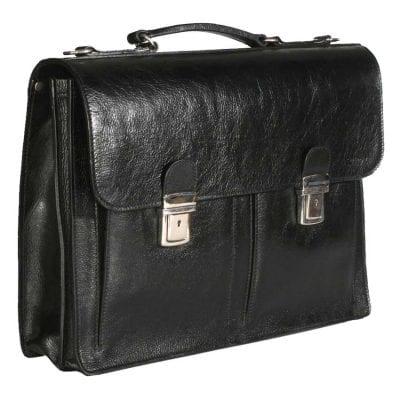 תיק עור שחור לגבר | לאנשי עסקים מעור משובח תוצרת איטליה דגם 715