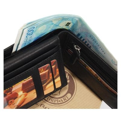 ארנק לגבר מעור אפריקה איטלקי כולל נרתיק לרישיון נהיגה / כרטיסי אשראי | דגם N60467 Calf Leather