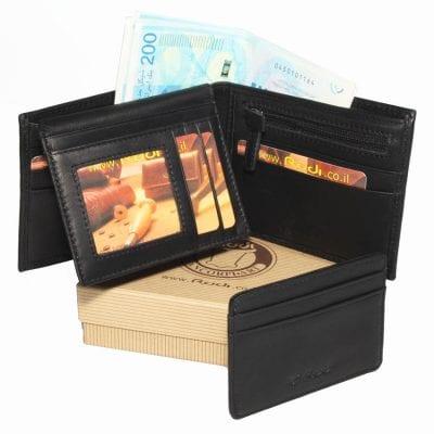 ארנק לגבר מעור אפריקה איטלקי כולל נרתיק לרישיון נהיגה / כרטיסי אשראי מריו