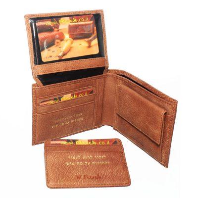 ארנקים לגברים – Rudi סט ארנק לגבר עם נרתיק לכרטיסי אשראי נשלף מעור איטלקי | דגם N90462