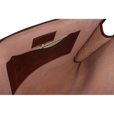 תיק עור למסמכים ללפטופ או למסמכי A4 מרופד מעור אמיתי ואיכותי תוצרת איטליה Full Grain דגם 0092