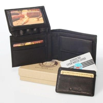 ארנק לגבר – Rudi סט ארנק לגבר עם נרתיק לכרטיסי אשראי נשלף יפהפה מעור איטלקי | דגם N90461 Calf Leather