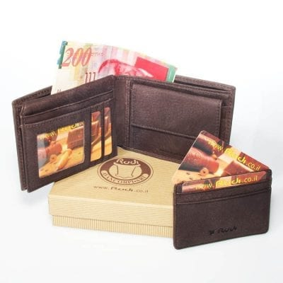 Italian genuine leather, men's leather wallet, highest quality item no' 90464