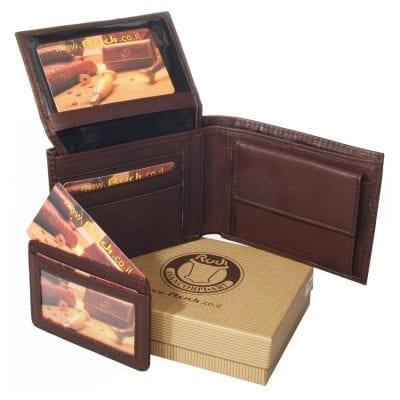 מתנה לאבא שלי – סט ארנק לגבר מעור נאפה עם נרתיק לכרטיסי אשראי נשלף יפהפה מעור איטלקי | Rudi דגם N90466