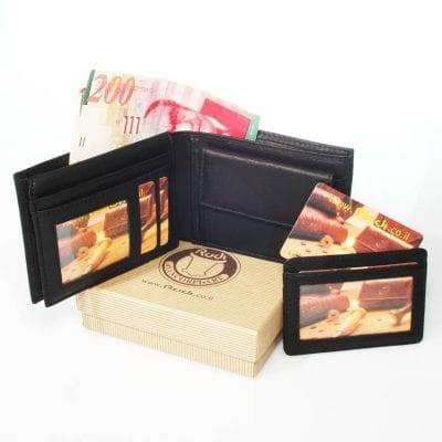 וולנטיין דיי – סט ארנק לגבר עם נרתיק לכרטיסי אשראי נשלף יפהפה מעור איטלקי | Rudi דגם N90467